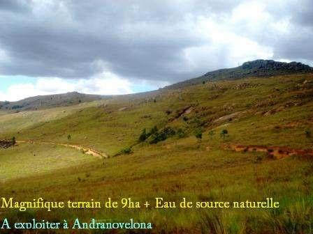 AFFAIRE à SAISIR! Magnifique terrain de 9ha + Eau de source naturelle à exploiter à Andranovelona (T