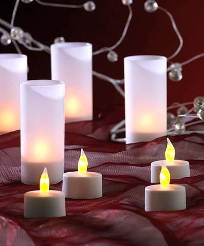 SUBLIME LOT DE 12 BOUGIES A LED POUR DECO DE TABLE, SOIREE, MARIAGE .