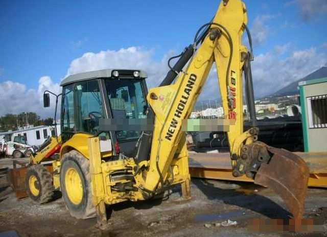 Vends Tractopelle NEW HOLLAND LB110B-2007,1263h